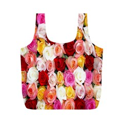Rose Color Beautiful Flowers Full Print Recycle Bags (m)  by BangZart