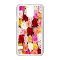 Rose Color Beautiful Flowers Samsung Galaxy S5 Case (white)