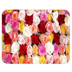 Rose Color Beautiful Flowers Double Sided Flano Blanket (medium)