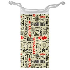 Backdrop Style With Texture And Typography Fashion Style Jewelry Bag