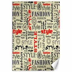 Backdrop Style With Texture And Typography Fashion Style Canvas 12  X 18