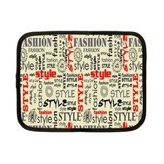 Backdrop Style With Texture And Typography Fashion Style Netbook Case (small)