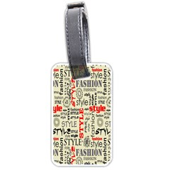 Backdrop Style With Texture And Typography Fashion Style Luggage Tags (two Sides) by BangZart