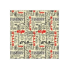 Backdrop Style With Texture And Typography Fashion Style Acrylic Tangram Puzzle (4  X 4 )