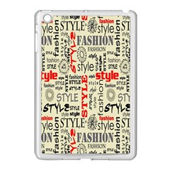 Backdrop Style With Texture And Typography Fashion Style Apple Ipad Mini Case (white) by BangZart