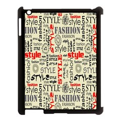 Backdrop Style With Texture And Typography Fashion Style Apple Ipad 3/4 Case (black)