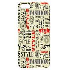 Backdrop Style With Texture And Typography Fashion Style Apple Iphone 5 Hardshell Case With Stand