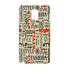 Backdrop Style With Texture And Typography Fashion Style Samsung Galaxy Note 4 Hardshell Case by BangZart