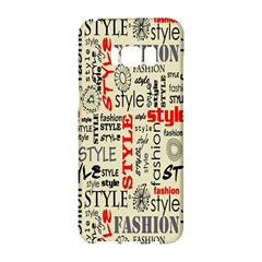 Backdrop Style With Texture And Typography Fashion Style Samsung Galaxy S8 Hardshell Case