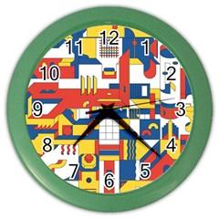 Hide And Seek Color Wall Clocks