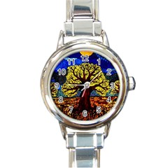 Tree Of Life Round Italian Charm Watch