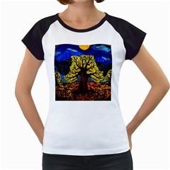 Tree Of Life Women s Cap Sleeve T
