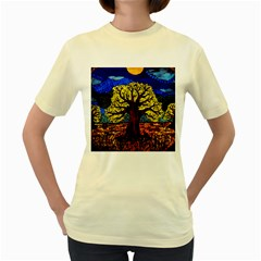 Tree Of Life Women s Yellow T Shirt
