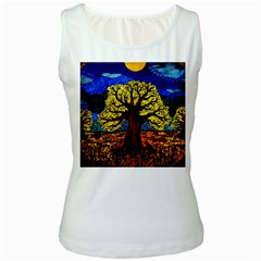 Tree Of Life Women s White Tank Top