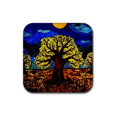 Tree Of Life Rubber Square Coaster (4 Pack)