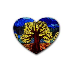 Tree Of Life Heart Coaster (4 Pack)