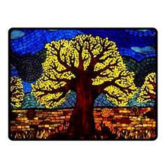 Tree Of Life Double Sided Fleece Blanket (small)  by BangZart