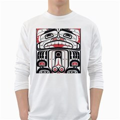 Ethnic Traditional Art White Long Sleeve T Shirts