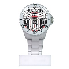 Ethnic Traditional Art Plastic Nurses Watch