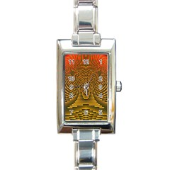 Fractal Pattern Rectangle Italian Charm Watch