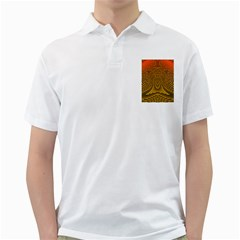 Fractal Pattern Golf Shirts