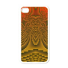 Fractal Pattern Apple Iphone 4 Case (white) by BangZart