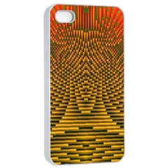 Fractal Pattern Apple Iphone 4/4s Seamless Case (white)