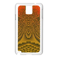 Fractal Pattern Samsung Galaxy Note 3 N9005 Case (white) by BangZart