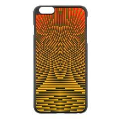 Fractal Pattern Apple Iphone 6 Plus/6s Plus Black Enamel Case