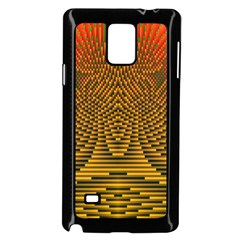 Fractal Pattern Samsung Galaxy Note 4 Case (black) by BangZart