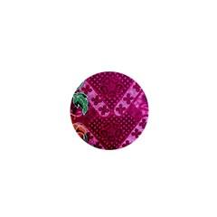 Pink Batik Cloth Fabric 1  Mini Buttons