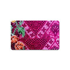 Pink Batik Cloth Fabric Magnet (name Card) by BangZart