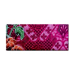 Pink Batik Cloth Fabric Cosmetic Storage Cases by BangZart