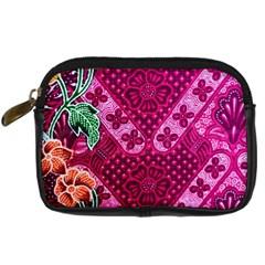 Pink Batik Cloth Fabric Digital Camera Cases