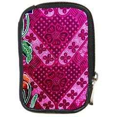 Pink Batik Cloth Fabric Compact Camera Cases by BangZart