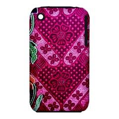 Pink Batik Cloth Fabric Iphone 3s/3gs