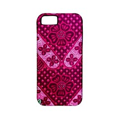 Pink Batik Cloth Fabric Apple Iphone 5 Classic Hardshell Case (pc+silicone) by BangZart