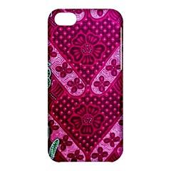 Pink Batik Cloth Fabric Apple Iphone 5c Hardshell Case