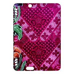 Pink Batik Cloth Fabric Kindle Fire Hdx Hardshell Case by BangZart