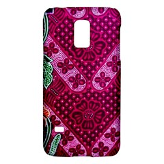Pink Batik Cloth Fabric Galaxy S5 Mini