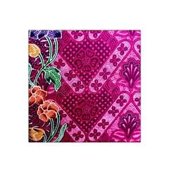 Pink Batik Cloth Fabric Satin Bandana Scarf