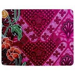 Pink Batik Cloth Fabric Jigsaw Puzzle Photo Stand (rectangular)