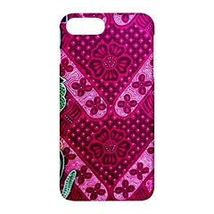 Pink Batik Cloth Fabric Apple Iphone 7 Plus Hardshell Case