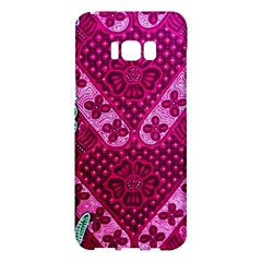 Pink Batik Cloth Fabric Samsung Galaxy S8 Plus Hardshell Case