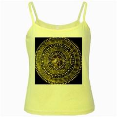 Gold Roman Shield Costume Yellow Spaghetti Tank