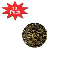 Gold Roman Shield Costume 1  Mini Magnet (10 Pack)