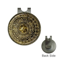 Gold Roman Shield Costume Hat Clips With Golf Markers