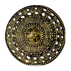 Gold Roman Shield Costume Ornament (round Filigree)