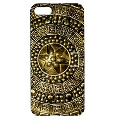 Gold Roman Shield Costume Apple Iphone 5 Hardshell Case With Stand
