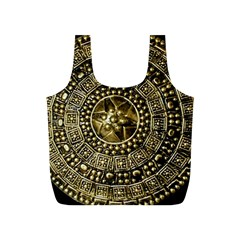 Gold Roman Shield Costume Full Print Recycle Bags (s)